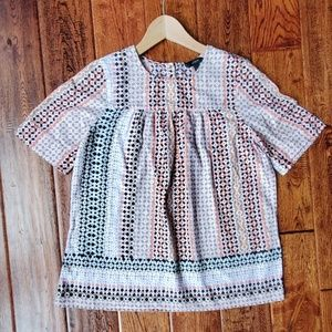 J.crew printed blouse